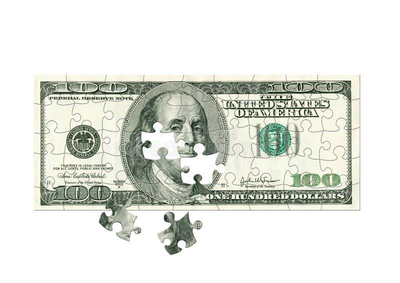 Dollar - Puzzlespiel lizenzfreies stockfoto