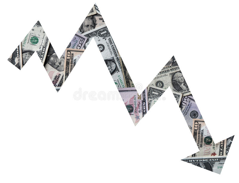 Dollar rate royalty free stock image