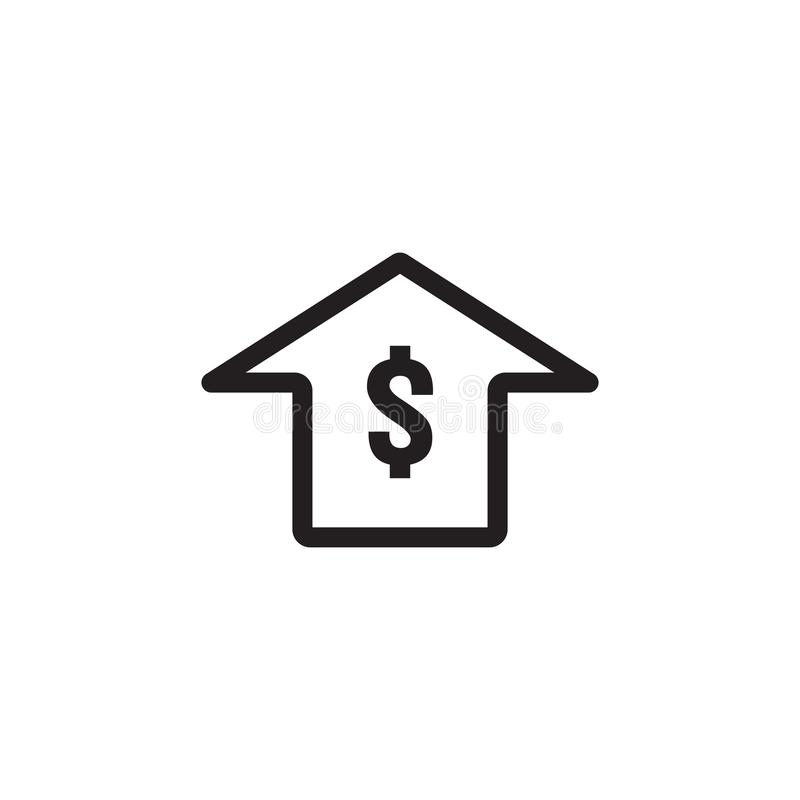 Dollar rate increase icon. Money symbol with stretching arrow up. rising prices. Business cost sale icon. cash salary increase. Investment growth. vector vector illustration