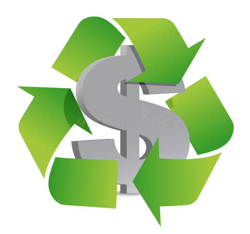 Dollar Recycle Stock Photos