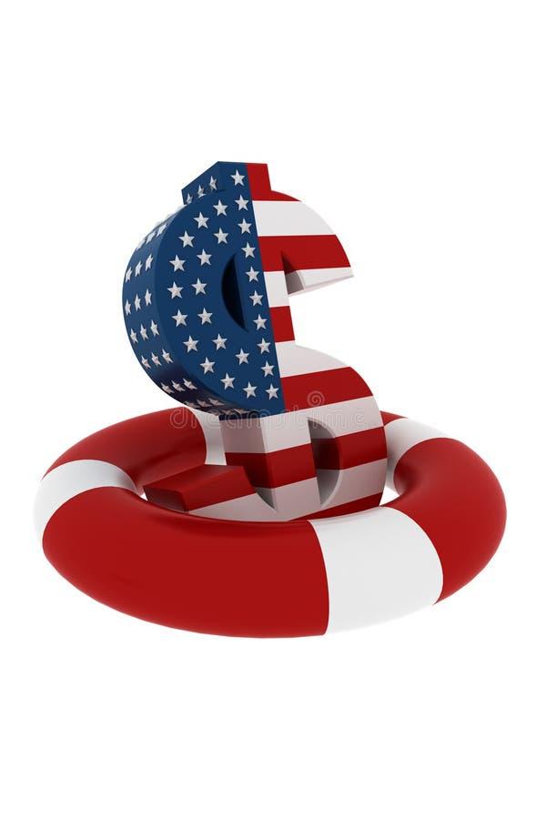 Download Dollar ring buoy stock illustration. Image of sign, render - 10106795