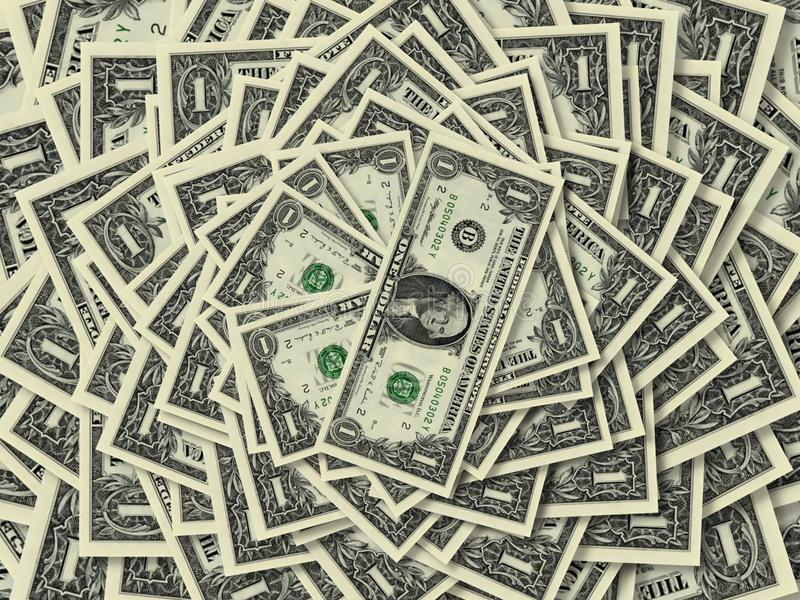 Dollar ringer royaltyfri fotografi