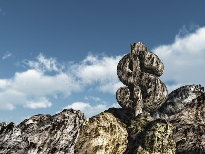 Download Dollar rock stock illustration. Image of money, business - 26244274