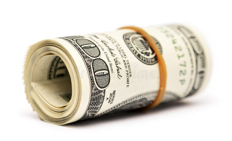 Dollar roll stock photo
