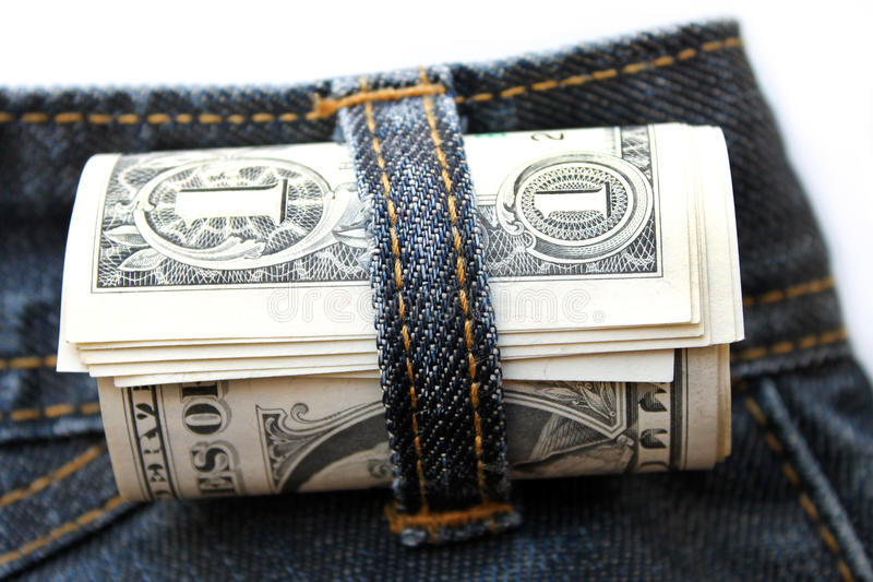 Download Dollar rolled stock photo. Image of bill, market, pants - 26498210