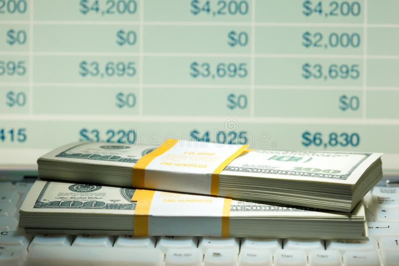 Download Dollar rolls stock image. Image of income, hoard, dollar - 18378955