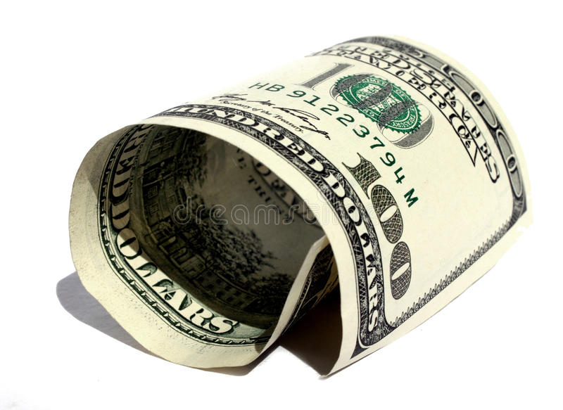 Dollar Roulé Image libre de droits