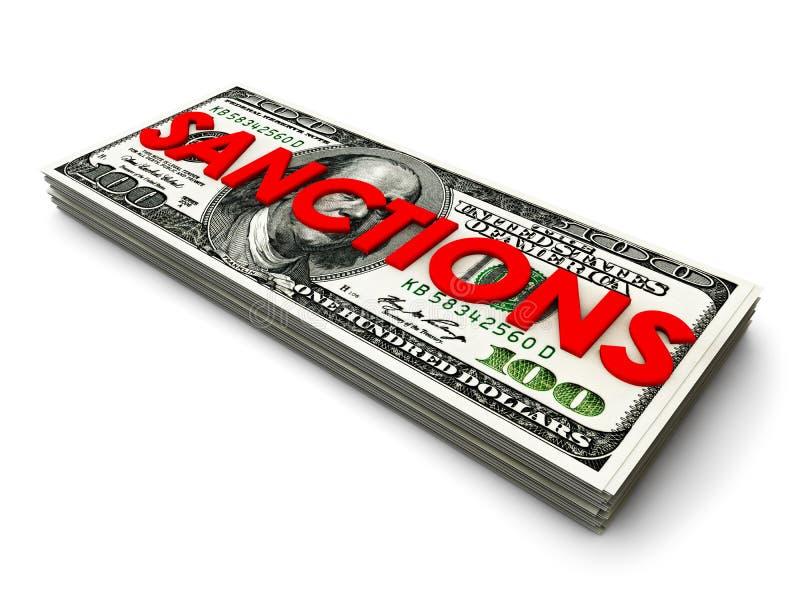 Dollar-Sanktionen stock abbildung