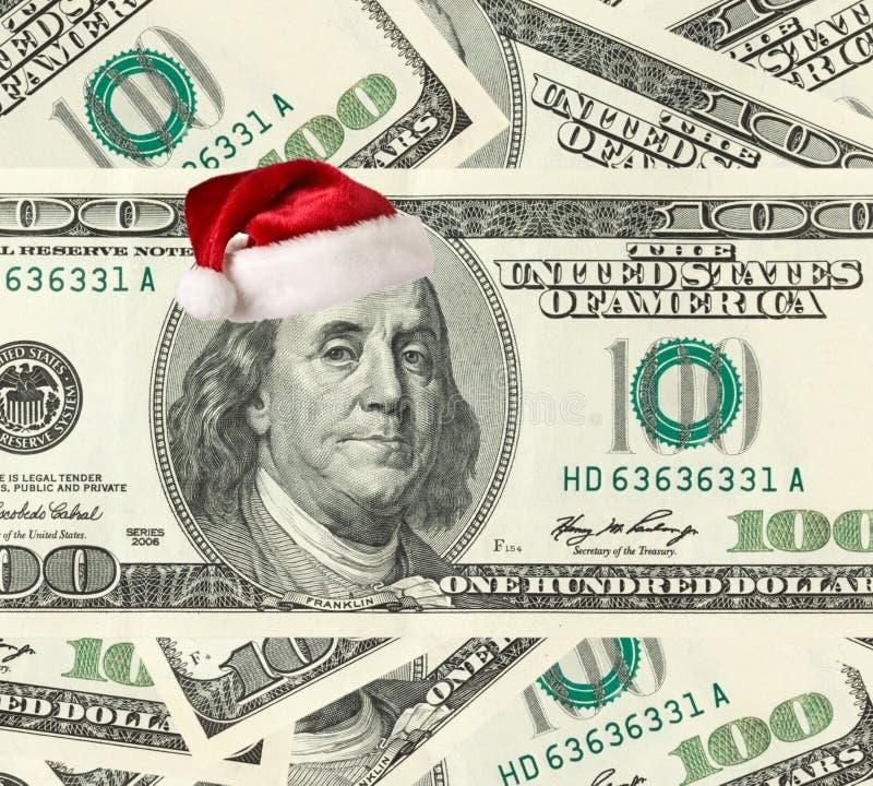 Dollar Santa Stock Image