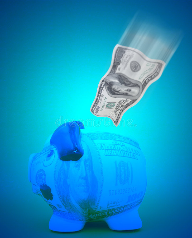 Dollar savings concept stock photo
