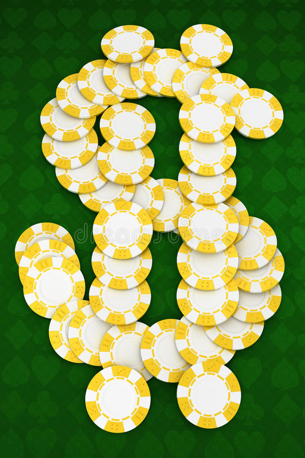 Dollar shaped Casino or roulette chips vector illustration