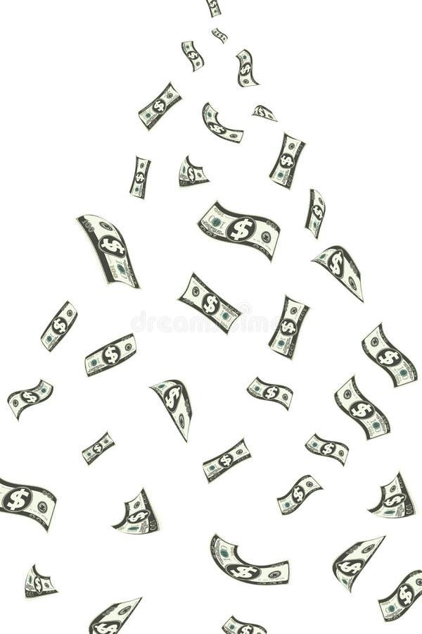 Dollar Showering stock illustration