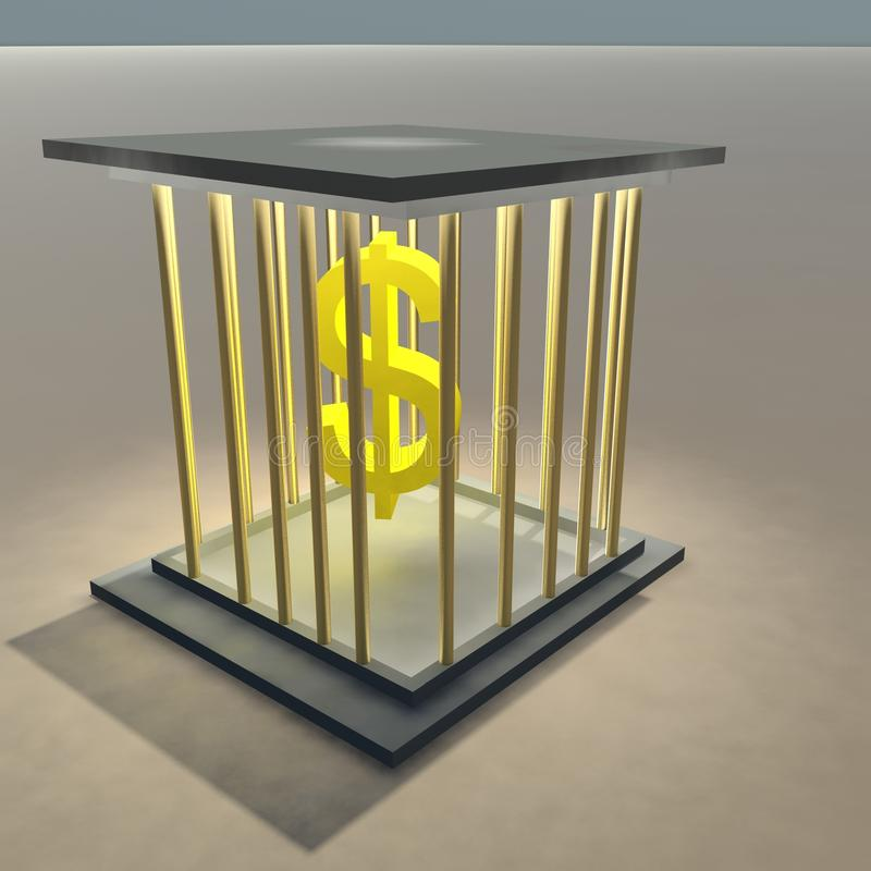 Download Dollar sign in a cage stock illustration. Illustration of guilt - 17373334
