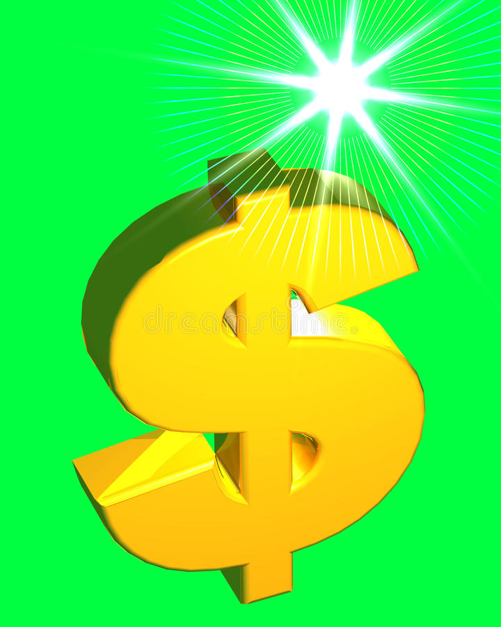 Download Dollar Sign (on green) stock image. Image of monetary - 16141239