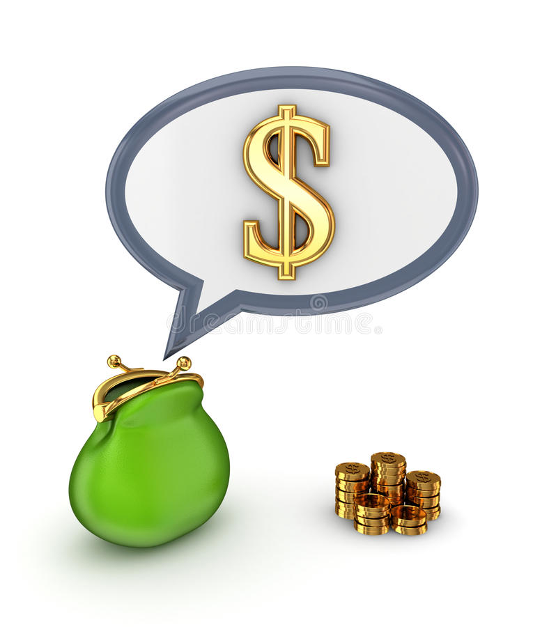Download Dollar Sign And Green Purse. Stock Images - Image: 25122184