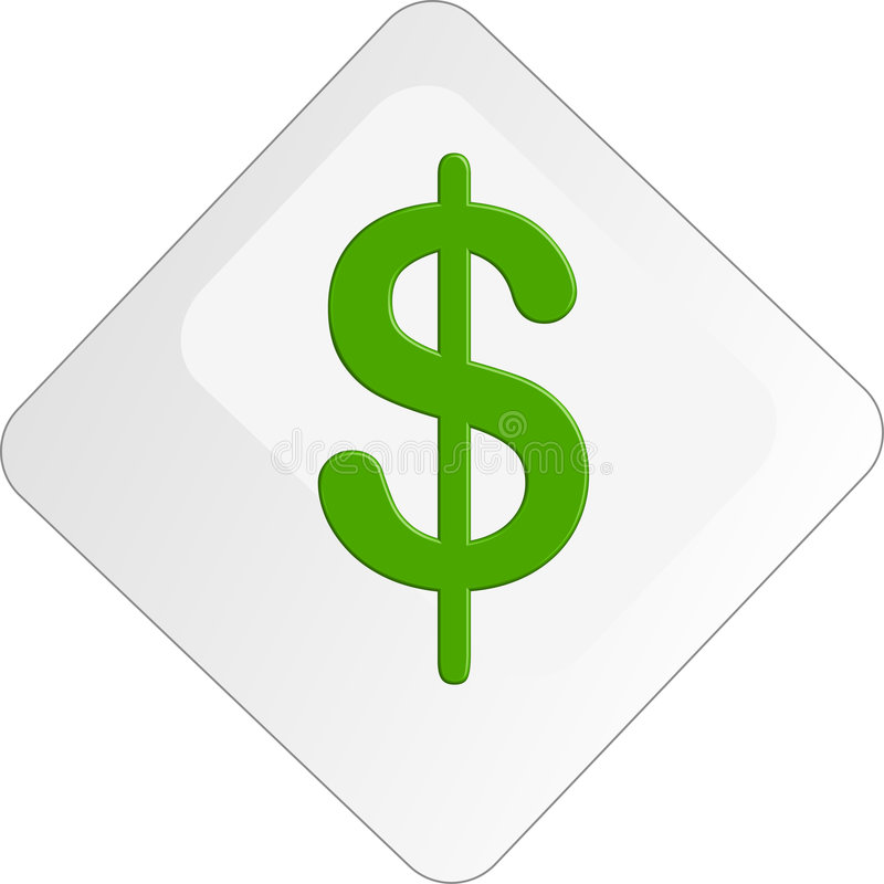 Download Dollar Sign Icon Button stock illustration. Image of glossy - 3280037