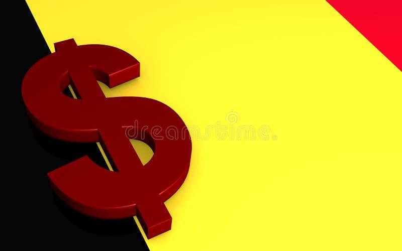 Dollar sign. Illustration of a 3D dollar sign royalty free illustration