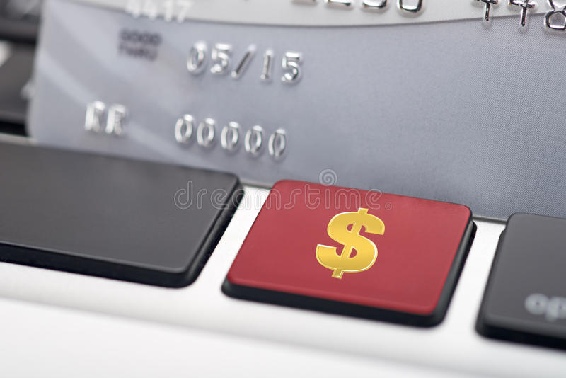 Dollar Sign On Keyboard Royalty Free Stock Photo