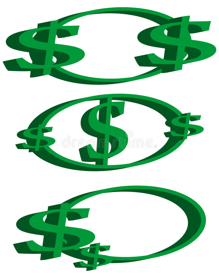 Dollar sign logos stock illustration