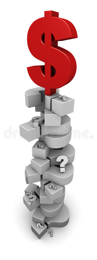 Download Dollar Sign On Question Marks Stock Image - Image: 21869163