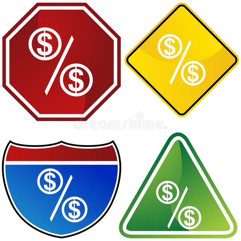 Dollar Sign Set Royalty Free Stock Photography
