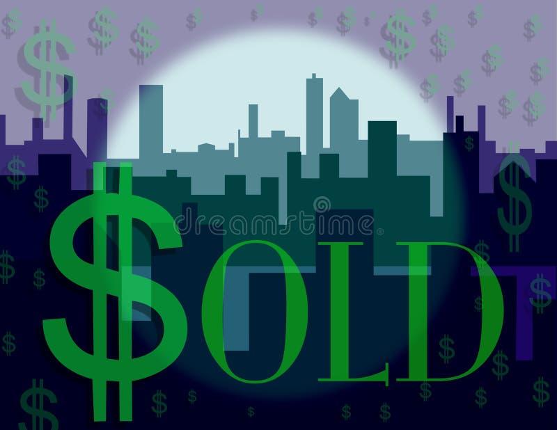 Dollar Sign Skyline Stock Images