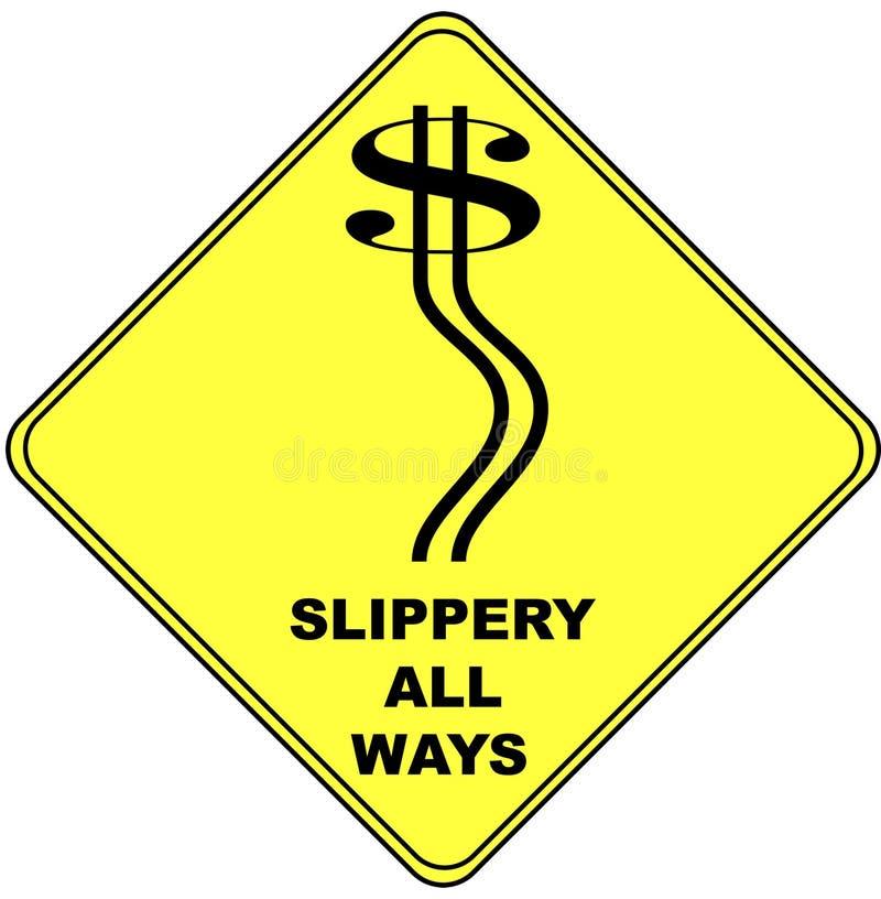 Download Dollar Sign On A Traffic Warning Sign Stock Illustration - Image: 9166633
