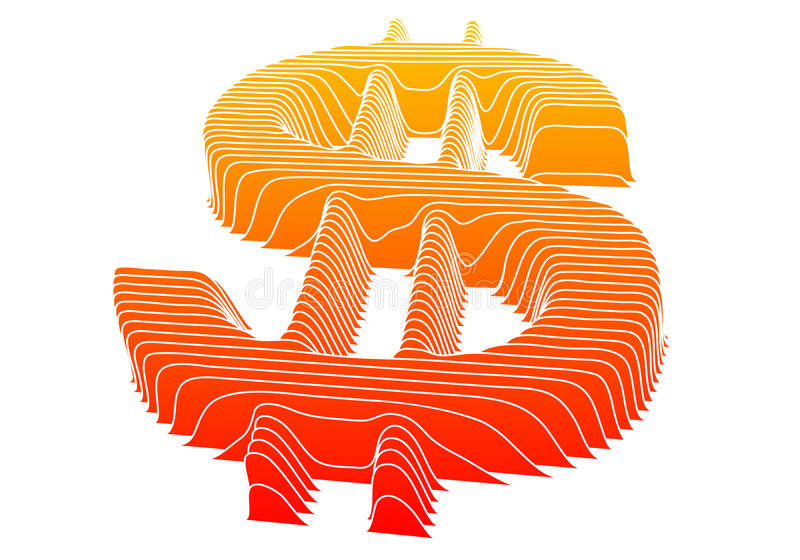 Download Dollar sign, vector stock vector. Image of dimensional - 12959258