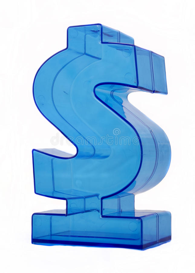 Dollar. Dollar sign on white background royalty free stock photo