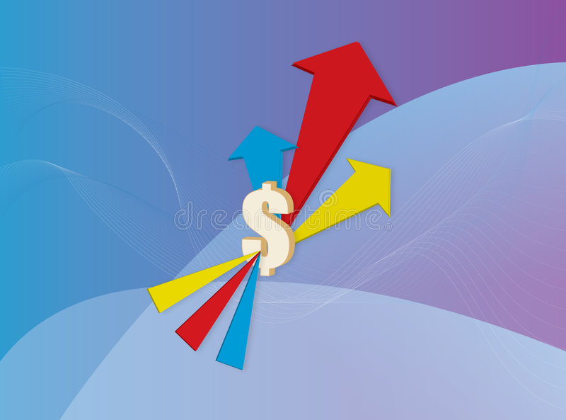 Download Dollar signs and arrows stock illustration. Image of illustration - 2445490