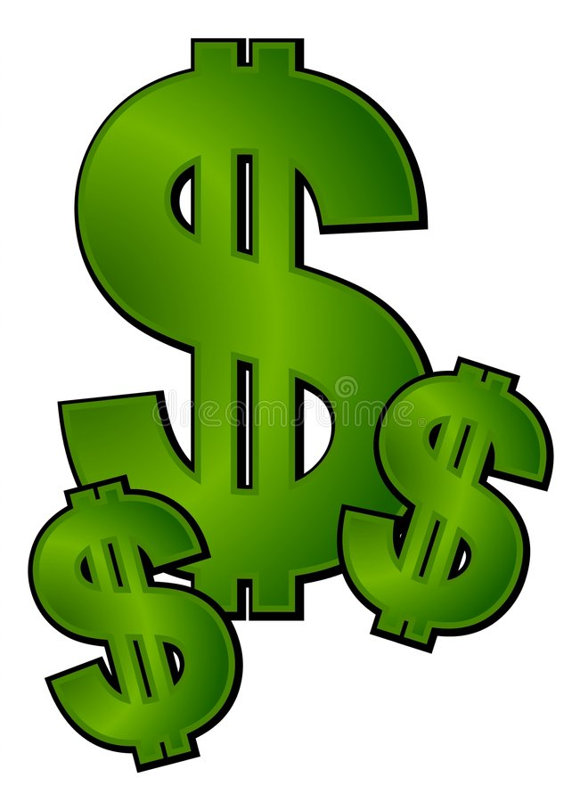 dollar signs money clip art stock vector illustration of signs rh dreamstime com Clip Art Extra Money Baker Clip Art