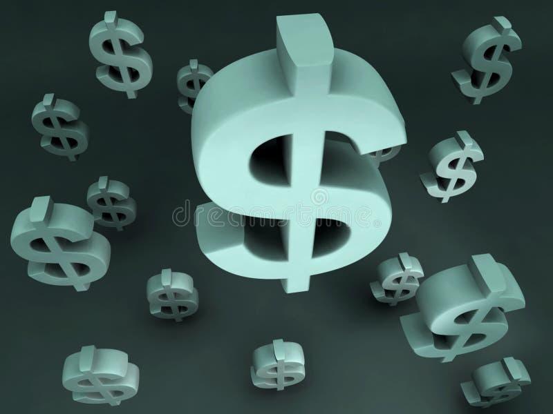 dollar som flyger tecknet vektor illustrationer