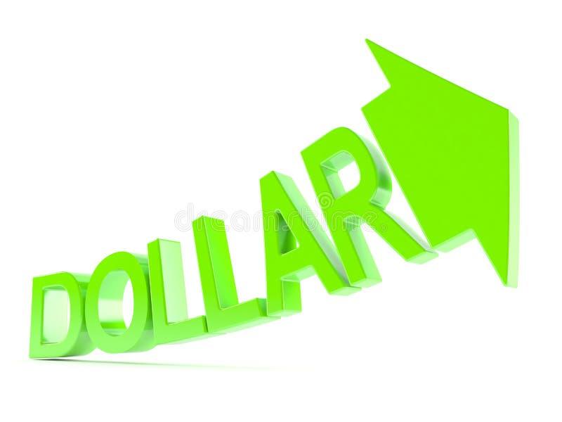 Dollar som upp går begrepp royaltyfri illustrationer