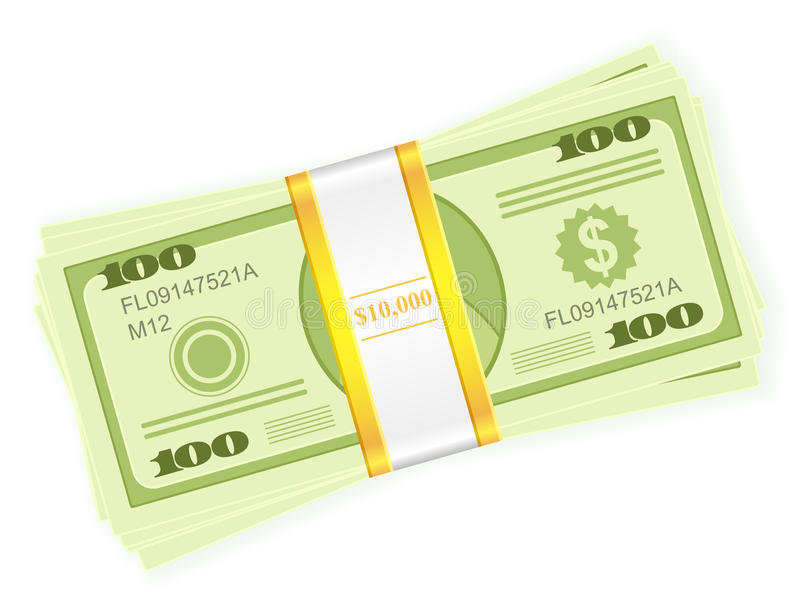 Dollar stack royalty free illustration