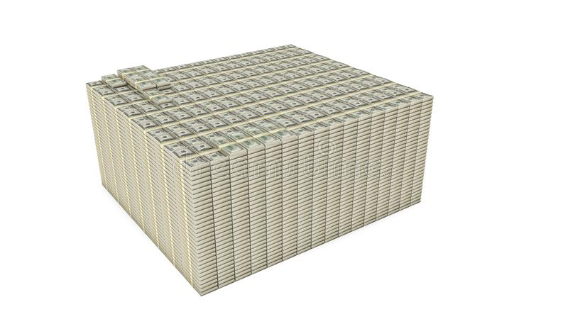 Dollar stack isolated on white background vector illustration