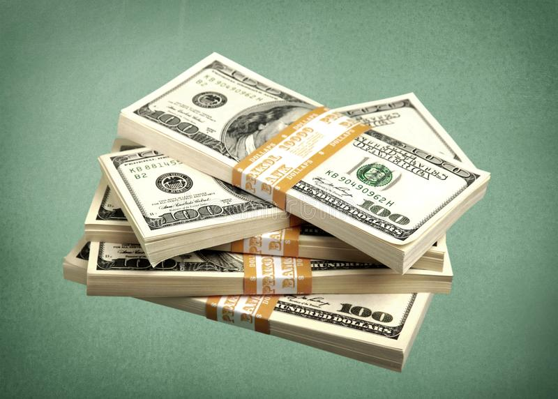 Dollar Stacks stock images