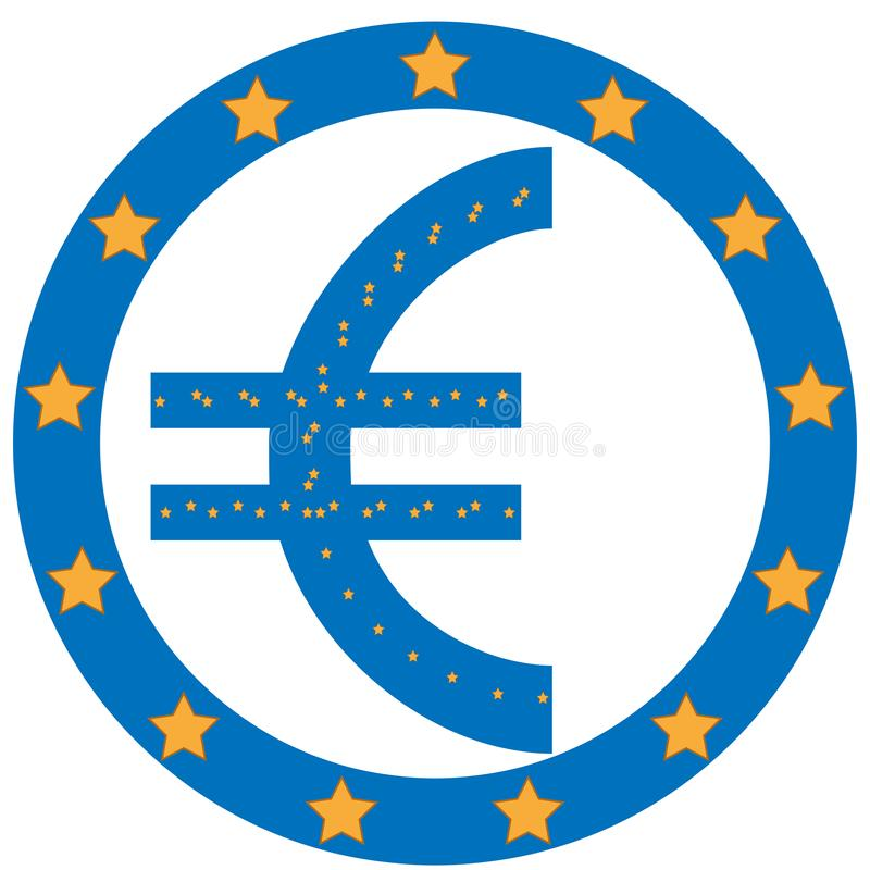 Dollar symbol with Europe Unian flag background royalty free stock photo