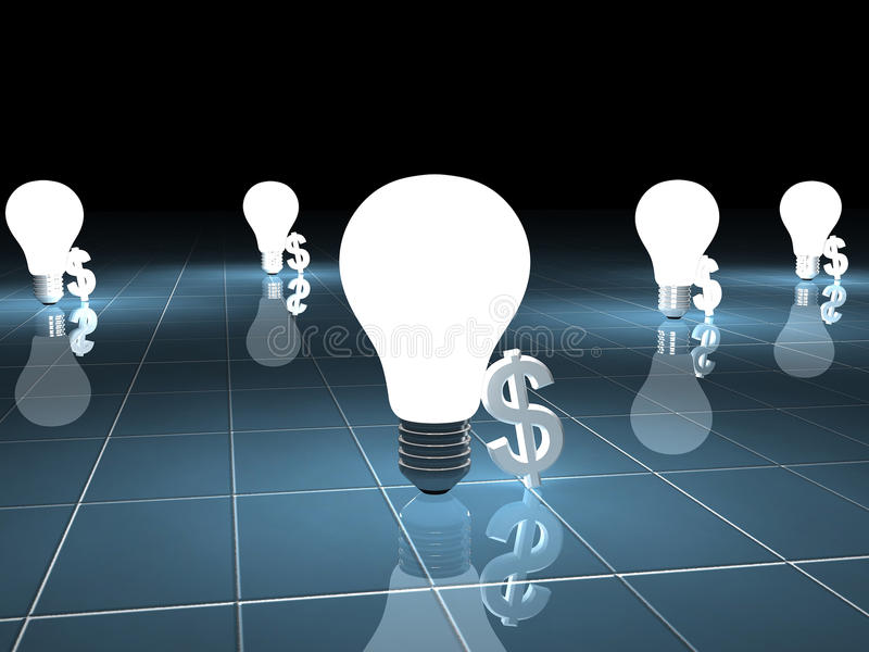 Download Dollar Symbol And Bulb Royalty Free Stock Photo - Image: 13747785