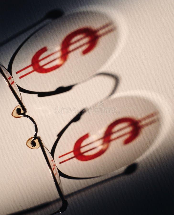 Download Dollar symbol on glasses stock photo. Image of finance - 456460