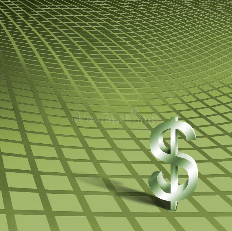 Dollar Symbol on Green royalty free illustration