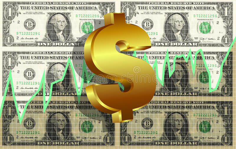 Download Dollar Symbol Market Graph Background Stock Photo - Image: 33585850