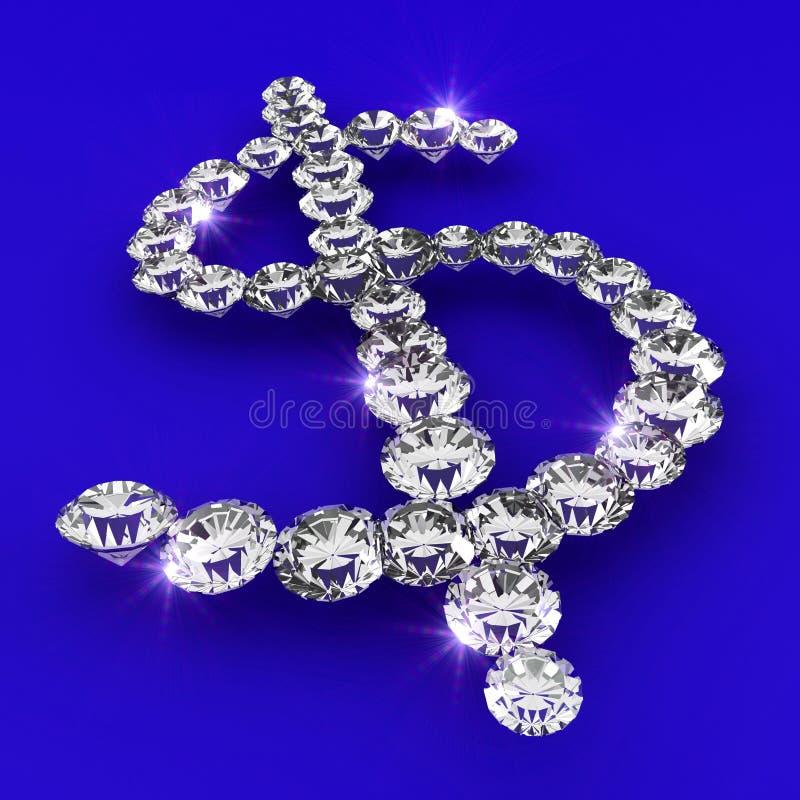 Dollar Symbol Shape Diamond Art Illustration Stock Photos