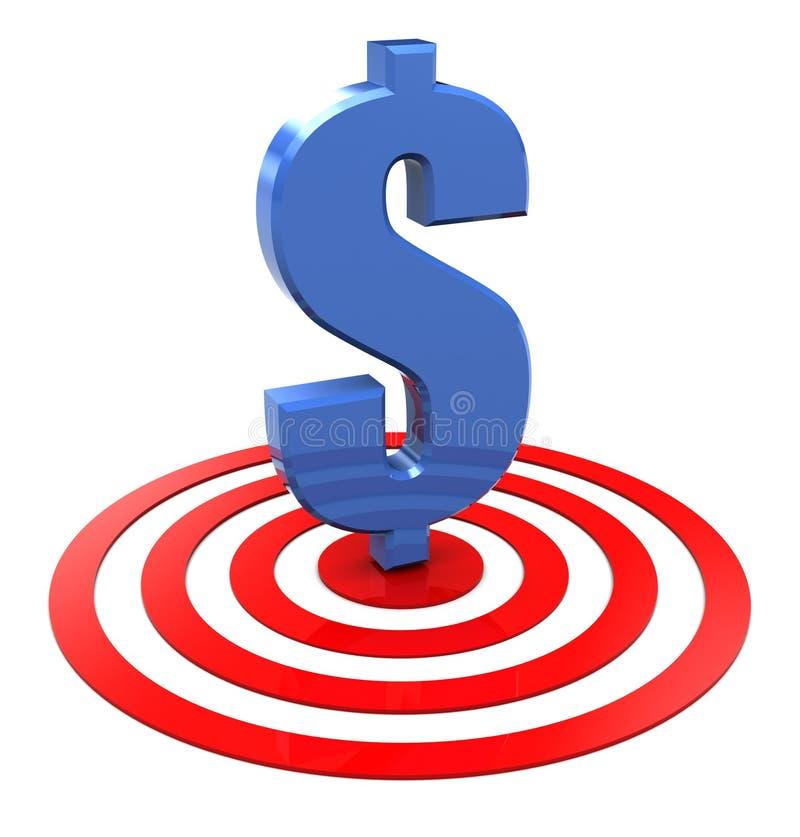 Dollar on target stock illustration