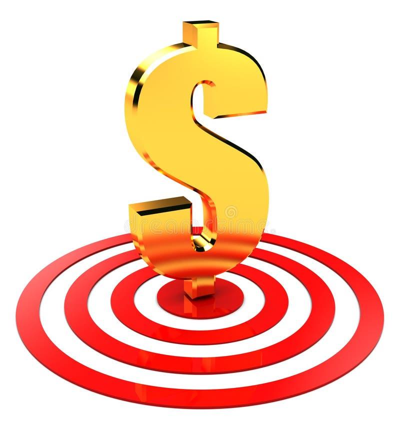 Download Dollar in target stock illustration. Image of hitting - 14716647