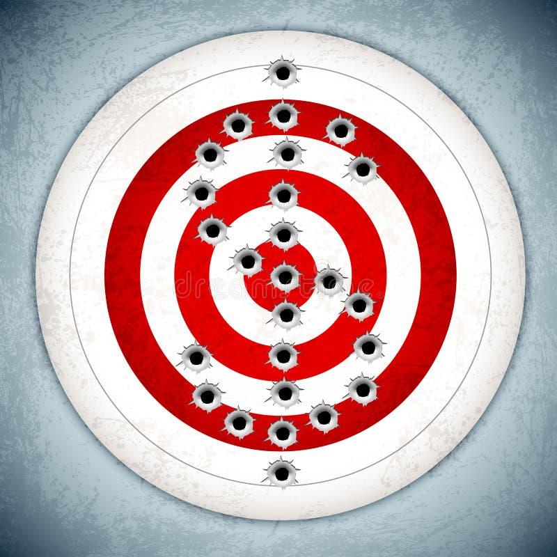 Dollar Target. Vector illustration of dollar mark with bullet hole on target board royalty free illustration