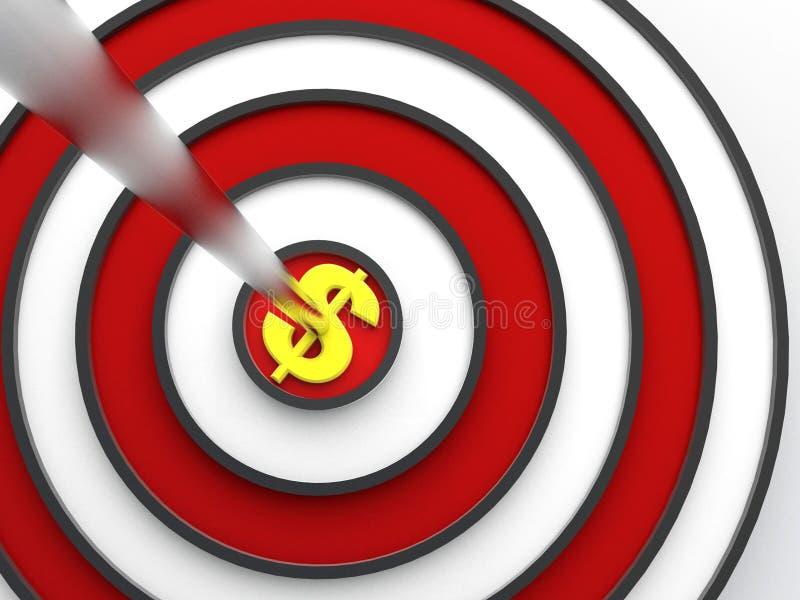 Dollar target vector illustration