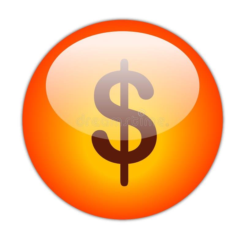Dollar-Taste lizenzfreie abbildung