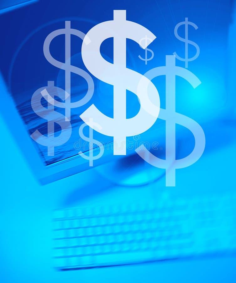 Dollar-Team-Arbeiten stock abbildung