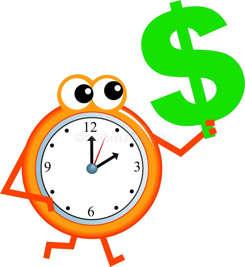 Download Dollar time stock illustration. Image of seconds, clip - 7387819