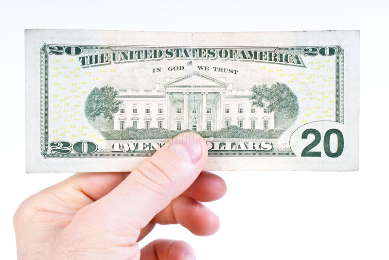 dollar tjugo arkivbilder